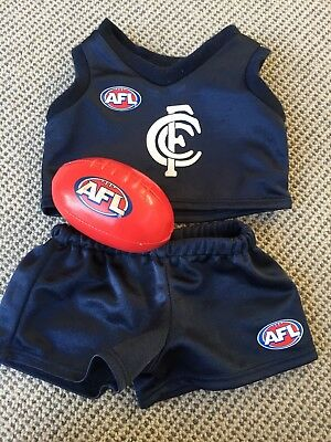 Build a bear Carlton footy outfit