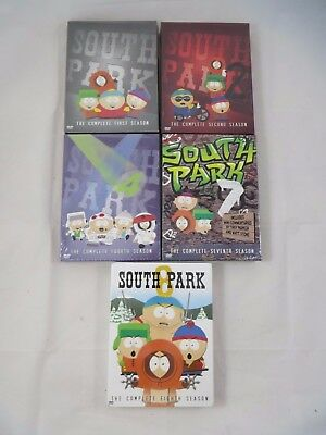 South Park DVD Lot of 5 Complete Series of Season 1 2 4 7 8 New Sealed