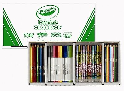 Crayola Essentials Classpack-244 Variety Pencils/crayons/markers-New In Box