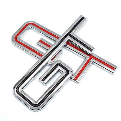 Auto Decal GT Rear Trunk Emblem Side Fender Sticker for Ford Mustang Black/Red