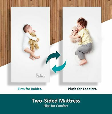 Moonlight Slumber Organic Dual Sided Baby Crib Mattress. Firm Sided For Infants