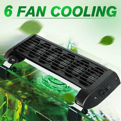 Ventilateur d'Aquarium Chillers Cooling Vitesse Adjudtable 6 Têtes + Adapter 12V