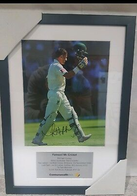 Michael Hussey Signed Photo