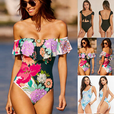 Women One-Piece Swimsuit Beachwear Swimwear Push-up Monokini Bikini Bathing Suit
