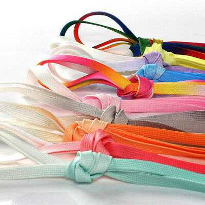 1Pair Shoelaces Candy Color Gradient Flat Sneaker Bootlace Shoe Laces Strings