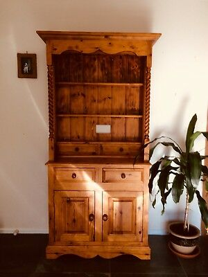 Solid Timber Buffet And Hutch Display Cabinet