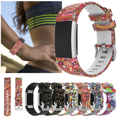 Soft Silicone Replacement Spare Watch Band Strap for Fitbit Charge 2