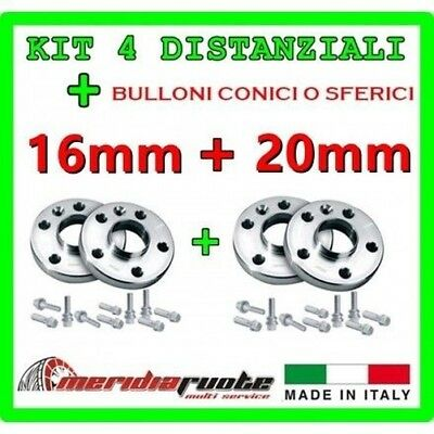 KIT 4 SPACERS BMW SERIES 1 M 135I E82 182 2007-2011 PROMEX ITALY 16mm+ 20mm