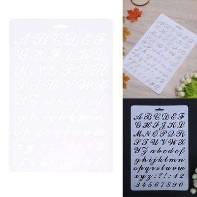 Lettering Stencils, Letter and Number Stencil, Painting Paper Craft Alphabe G3T2