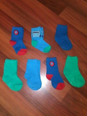7 pairs of baby boy socks! Bulk lot.TARGET. sz 6+ months. Sale on now. BRAND NEW