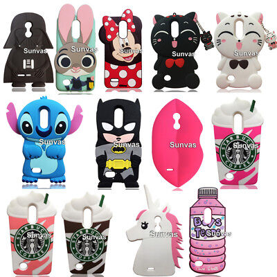 For LG K4 K8 2017 Phone Cases Cartoon 3D Soft Silicon Case Back Cover Skin Shell