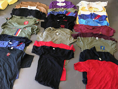 Job lot of 30 British military, support services personnel t Tee shirts and tops