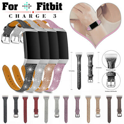 Leather Watch Band Wristband Strap Replacement For Fitbit Charge 2 Bracelet