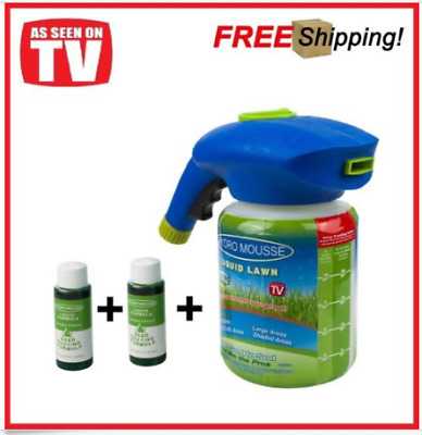 NEW Hydro Mousse Household Seeding System Liquid Spray Seed Lawn Care Grass Shot