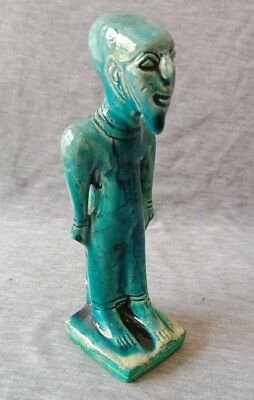 Rare Ancient Egyptian priest Faience glazed blue Egypt antiques civilization