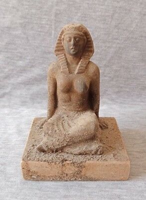Ancient Egyptian antiques Seated Pharaonic High Priests of Amun