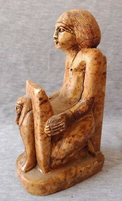 Rare ancient Egypt antiques The offerings Holder statue Egyptian Faience