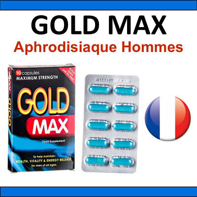 Aphrodisiaque Homme GOLD MAX 10 gélules - EFFET GARANTI POWERTABS POWER TABS