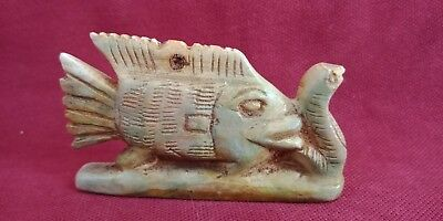 ancient egyptian civilization vintage antique Fish and snake Statue of pharaonic