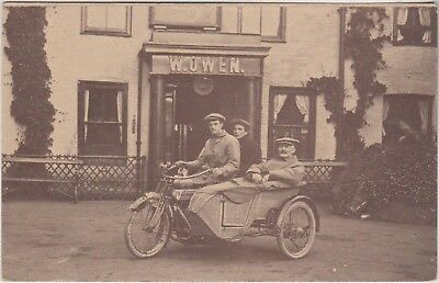 Motor Bike And Sidecar - W Owen - Woven Sidecar - Merioneth Record Office