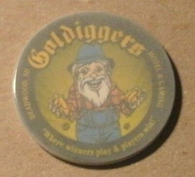 A chip from Godl Diggeres In Deadwood, S. Dakota, non gaming