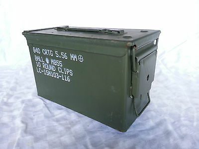 Ammo Box Storage Tool Can M2A1 M2A2 Military Surplus 5.56Mm 50 Cal. .223