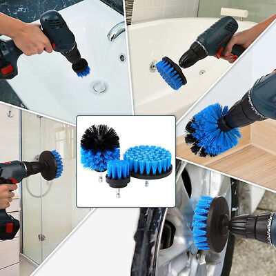 3Pcs/Set Tile Grout Power Scrubber Cleaning Drill Brush Tub Clean Combo Tool B2U
