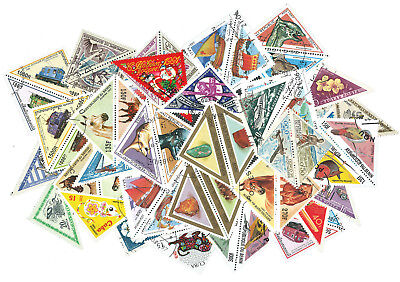 Triangular Stamps - 50 Different [48342] + Free Gift