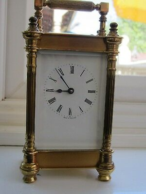 English Carriage Clock in Good Working Order with Key