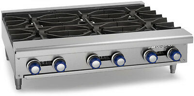 "Imperial Range IHPA-6-36 36"" Commercial Gas Hot Plate Counter Top 6 Burner NSF"