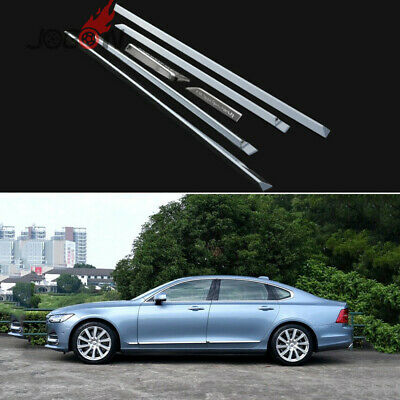 Car Side Door Body Strip Fender Trim For Volvo S90 2017 2018 ABS Chrome Protect
