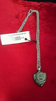 AUTHENTIC MENS HENLEYS stainless steel DOGTAG NECKLACE brand new WITH TAGS!!!!