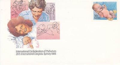 30c Mint Pre-stampeed envelope. 1984 Conference of Midwives.