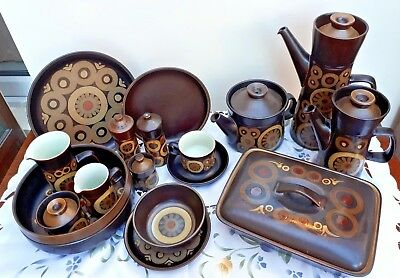 Denby Arabesque Samarkand Dinner & Tea Wares Bowls Teapot Vegetable Dish VGC