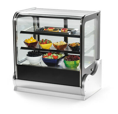 "Vollrath 40866 48"" Heated Countertop Deli Display Case Cubed Glass"