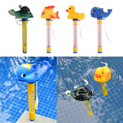 Floating Swimming Pool Hot Tub Thermometer Water Temperature Tester Yellow