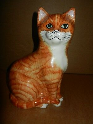 "LARGE  BABBACOMBE GINGER CAT 11.5"" tall"