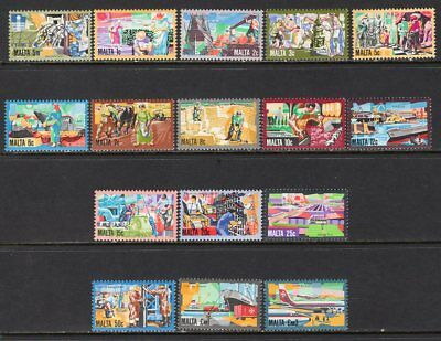 Malta 1981 Maltese Industry Complete Set of 16 MNH CV$29