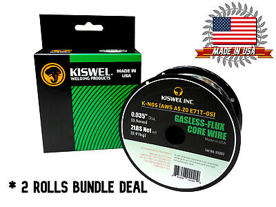 (2 Rolls) K-NGS E71T-GS .035 in. Dia 2lb. Gasless-Flux Core Wire Welding wire