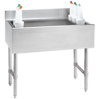 "Advance Tabco 12""W S/s Cocktail Unit w/ 12"" Deep Chest 35lb Ice Capacity"