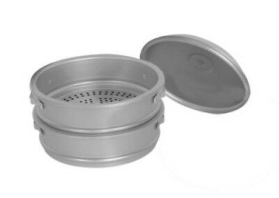 "Thunder Group ALST016 26"" dia. x 22""H Aluminum Steamer Basket Set"