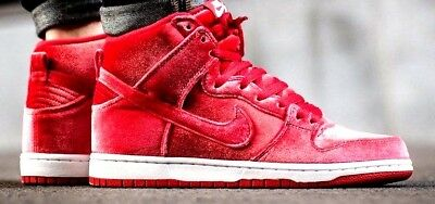 new styles 958af 71b97 Nike Air Dunk High SB VELVET 9 Max 180 1 Red October 10.5 90 95 97