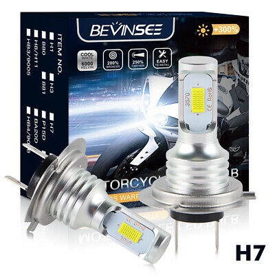 H7 For Honda CBR1000RR CBR1100XX CBR600RR LED Headlight Conversion Bulb Kit
