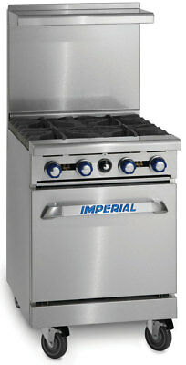 "Imperial Range IR-4 24"" Restaurant Range with 4 Gas Burners & Standard Oven"