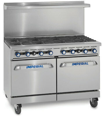 Imperial Range IR-8 48in Gas Restaurant Range 8 Burners & Oven