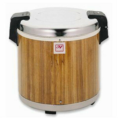 Thunder Group 50 Cup Stainless Steel with Wood Grain Electric Rice Warmer