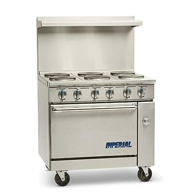 "Imperial Range IR-6-E 36"" Electric 6 Burner Restaurant Range with Standard oven"