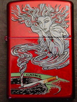 Camel Genie on a Candy Apple Red - great graphics - Zippo 2016 MIB