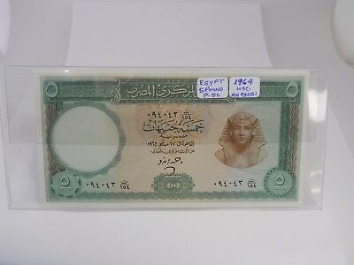 1964 Egypt 5 Pounds Paper Note Crisp Uncirculated Condition P-50 *Free Shipping*