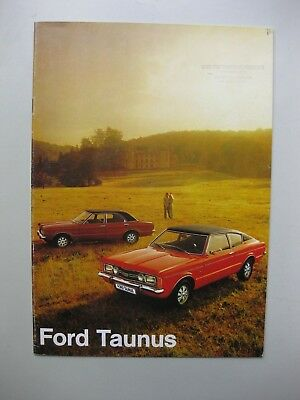 Ford Taunus prestige brochure Prospekt Dutch text 1972 20 pages